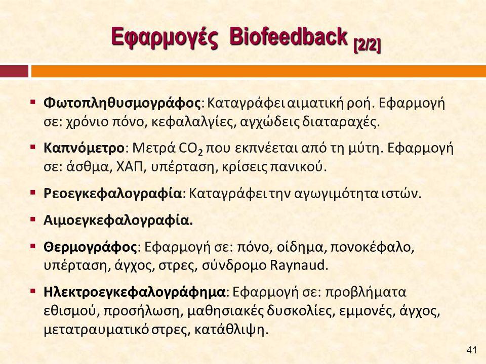 Κλινικές Εφαρμογές του S-EMG BFB [1/6]